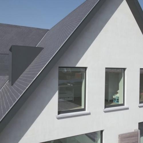 aluminium ramen verborgen achter de slag