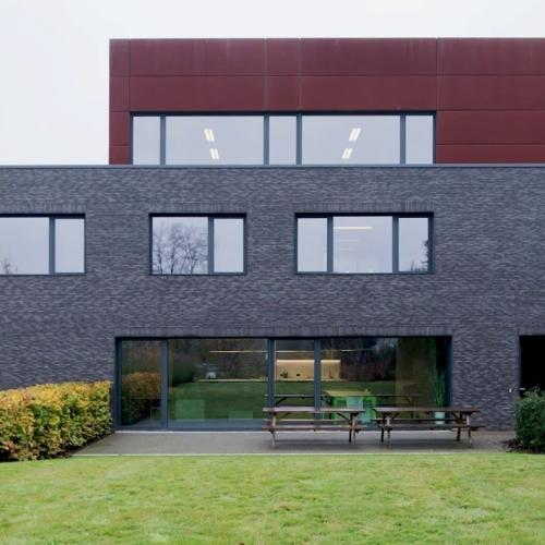 energiezuing kantoor met smalle raamprofielen