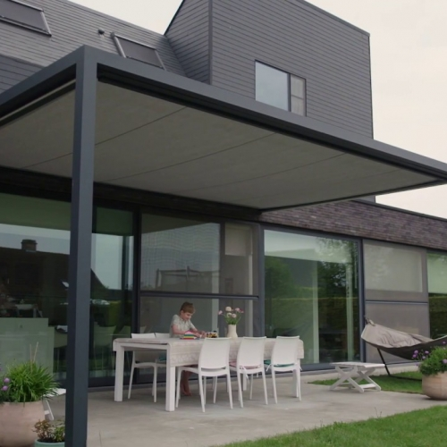 wincube xl terrasoverkapping met led verlichting